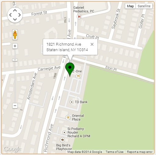 Sample google map address point