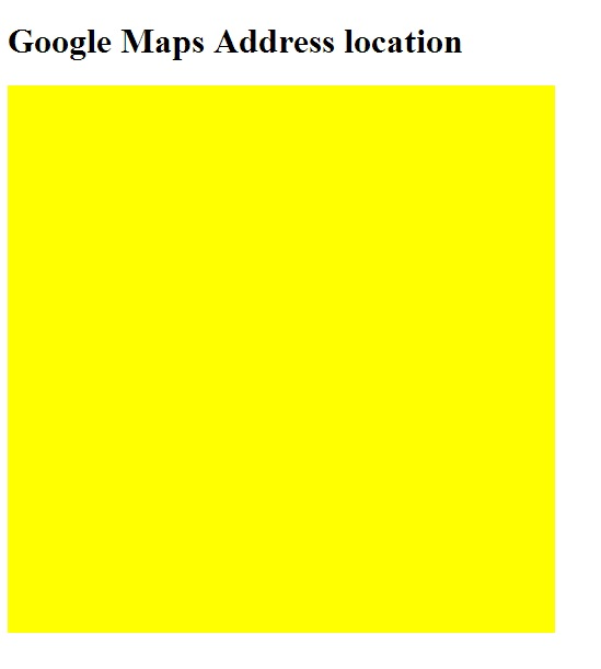 Google map canvas div